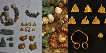 Türkistandaki Kültepede haç şeklinde kale ve mücevherler bulundu
