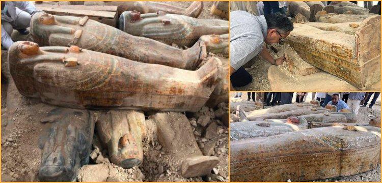 20 ancient wooden coffins found in Egypt