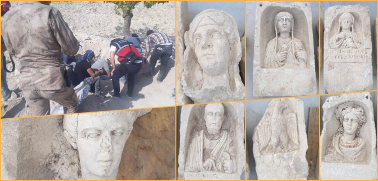 Zeugma Antik Kentinde mezar odalarını yağmalayan 4 defineci yakalandı