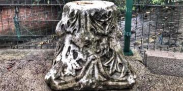 Bartında bir köy evinde bulunan tarihi sütun başlığı müzeye kaldırıldı