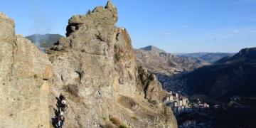 Gümüşhane Canca Kalesinden panoramik olarak seyredilebilecek