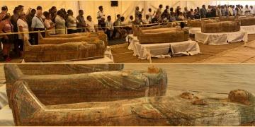 Asasif nekropolünde bulunan renkli ahşap tabutlar halka sergilendi