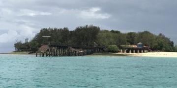 Afrikanın ünlü köle ticaret merkezi Changuu Adası bugün turizm merkezi
