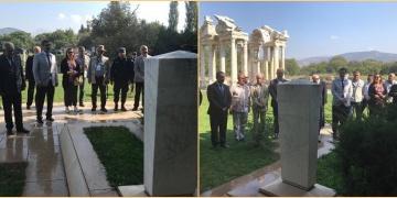 Arkeolog Prof. Dr. Kenan T. Erim, Afrodisiastaki mezarı başında anıldı