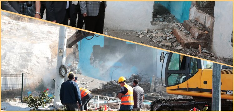 Şanlıurfa'da Kızılkoyun mağaraları projesi için 35 yapı yıkıldı