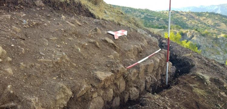 Palu'da Bizans devrinden kalma karakol kalesi kalıntıları bulundu
