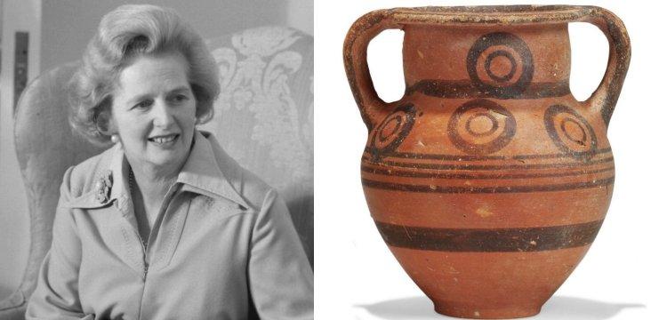 Kıbrıs Rum Kesimi sordu: Thatcher'a hediye edilen amfora nasıl satıldı?