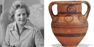 Kıbrıs Rum Kesimi sordu: Thatchera hediye edilen amfora nasıl satıldı?