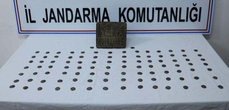 Iğdır'da Urartu dönemine ait görünen taş tablet yakalandı