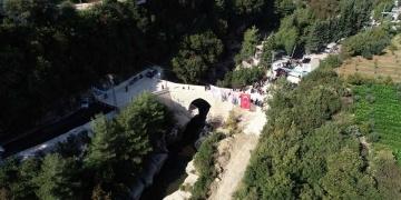 Restorasyonu tamamlanan Batıayaz Köprüsü, törenle hizmete açıldı