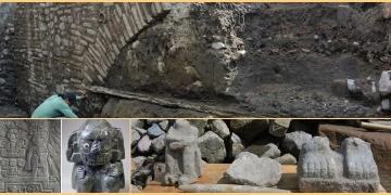 Mexico Cityde bir caddenin altından Azteklere ait su kemeri çıktı