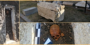 Workers found a female skeleton in 2,000-year-old Roman-era sarcophagus