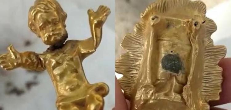 Kayseri'de defineciler saf altından İsa Heykeli ve beşikle yakalandı