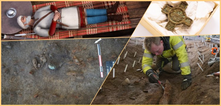 Archaeologists excavating a mysterious Viking site at Vinjeroa in Norway