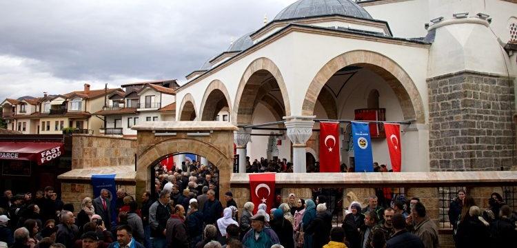 Makedonya'da restore edilen Ohri Ali Paşa Camisi bir asır sonra ibadete açıldı