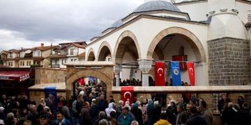Makedonyada restore edilen Ohri Ali Paşa Camisi bir asır sonra ibadete açıldı