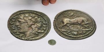 Şanlıurfada Roma dönemi 70 sikke ele geçirildi