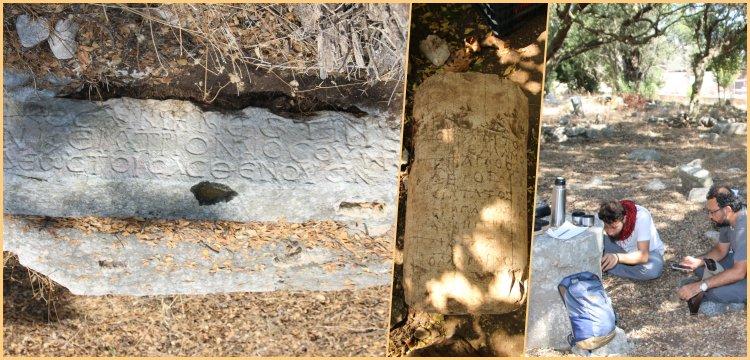 Muğla'da 1500 yıllık hastane ve 1800 yıllık Dostlar yazılı mezar yazıtı bulundu
