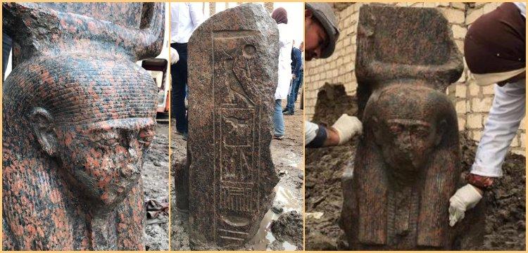Mısır'da Firavun II. Ramses'e ait yeni bir heykel bulundu