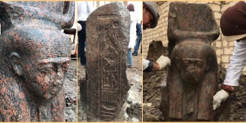 Rare bust of pharaoh Ramses II discovered near Giza