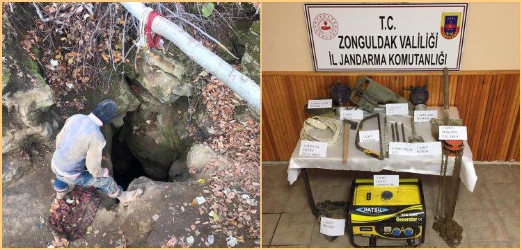 Zonguldak'ın Çaycuma ilçesinde 5 defineci gözaltına alındı.