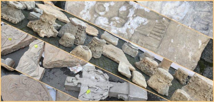 Polisler, Sarıyer'de kaçak tarihi eser deposuna baskın düzenledi
