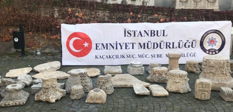 İstanbulun Sarıyer ilçesinde bir depo dolusu arkeolojik eser yakalandı