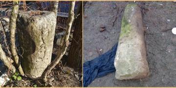 Alaplıda bir köy evinde Roma dönemine ait 5 sütun yakalandı