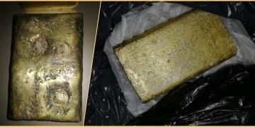 Çorumda tarihi süsü verilmiş iki sahte külçe altın yakalandı