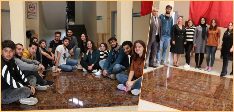 Pazırık Halısı Balıkesir Üniversitesi'nde taş ve kumdan imal edildi