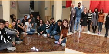 Pazırık Halısı Balıkesir Üniversitesinde taş ve kumdan imal edildi