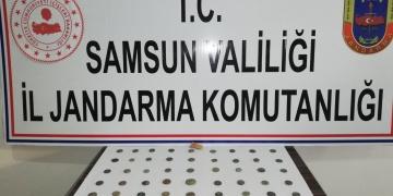 Samsunda 61 adet sikke yakalandı