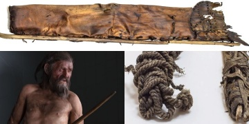 The oldest hunting equipment: Otzis bowstring