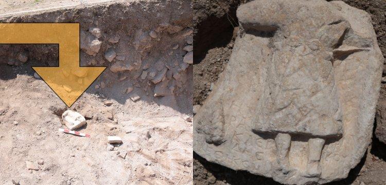 Karabük'teki arkeoloji kazılarında 1800 yıllık adak steli bulundu