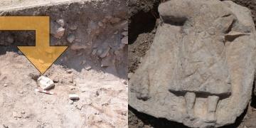 Karabükteki arkeoloji kazılarında 1800 yıllık adak steli bulundu