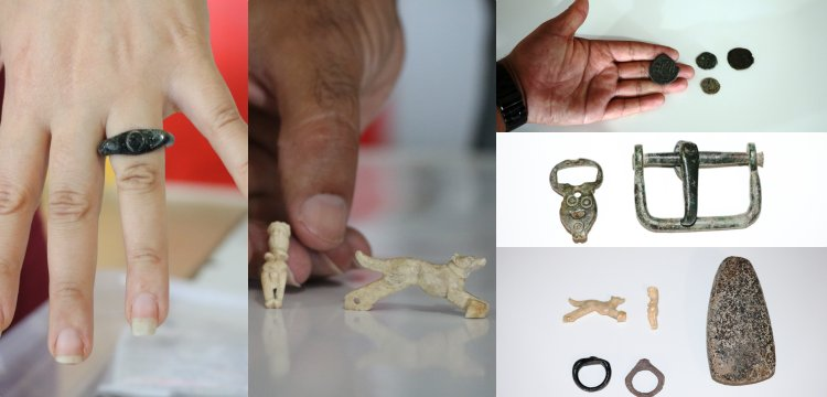 Assos'ta 7 bin yıllık taş balta ile 2500 yıllık takı ve sikkeler bulundu