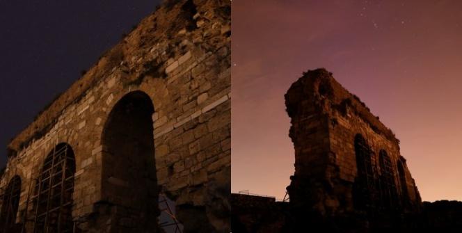 Tralleis Antik Kentindeki Gymnasium kalıntısı: Üç Gözler
