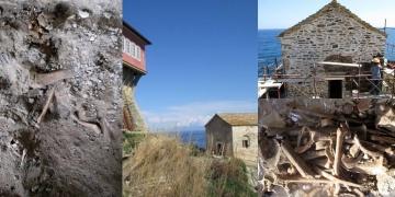 Kadınlara yasak manastır bölgesinde kadın kemikleri bulundu