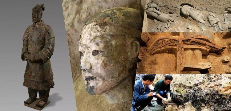Çin'de 220 yeni terrakotta askeri ve en eski altın deve heykeli bulundu