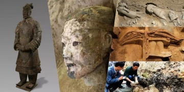 220 new terracotta warriors found at the Mausoleum of the Emperor Qinshihuang