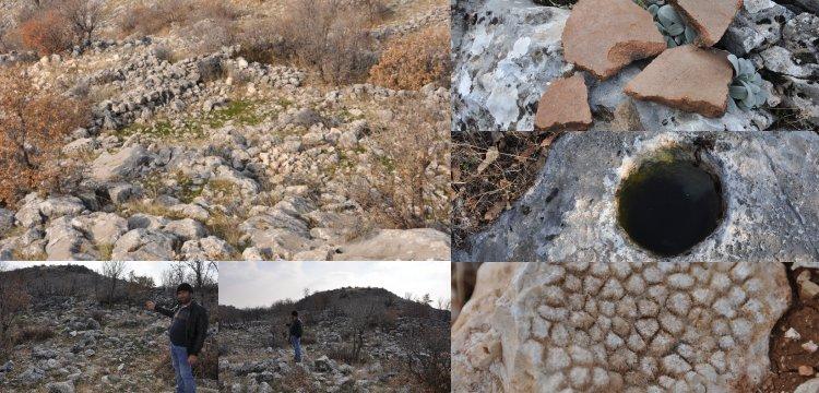 Kahta'da dağlık alanda Roma devrine ait tarihi kalıntılar bulundu