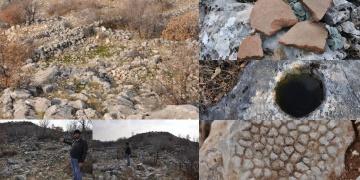 Kahtada dağlık alanda Roma devrine ait tarihi kalıntılar bulundu