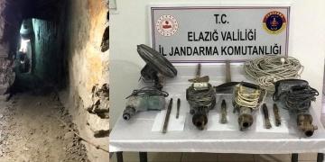 Harputda 3 defineci kazdıkları 35 metrelik tünelde yakalandı