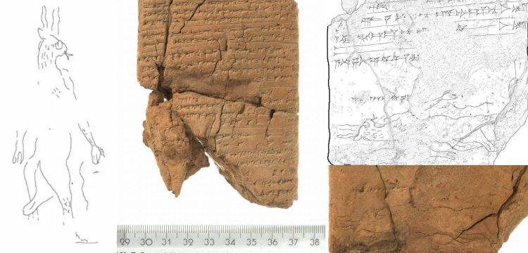 Asur tabletinde 2700 yıllık kuyruklu ve çatal dilli 'Şeytan' çizimi keşfedildi