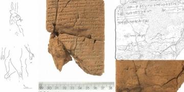 Asur tabletinde 2700 yıllık kuyruklu ve çatal dilli Şeytan çizimi keşfedildi