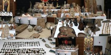 İstanbulun Şişli ilçesinde 1134 parça tarihi eser yakalandı