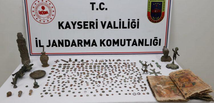 Kayseri'deki tarihi eser operasyonunda 10 kişi yakalandı