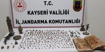 Kayserideki tarihi eser operasyonunda 10 kişi yakalandı
