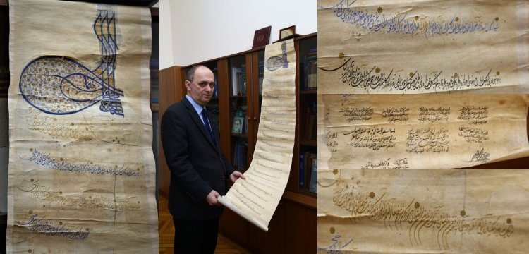 Azerbaycan'da Kanuni Sultan Süleyman tuğralı mülkname bulundu