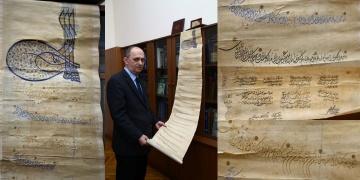 Azerbaycanda Kanuni Sultan Süleyman tuğralı mülkname bulundu